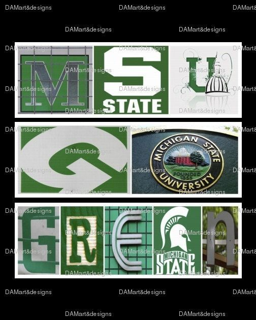 michigan state framed alphabet photo art by damartndesign on etsy 39 00