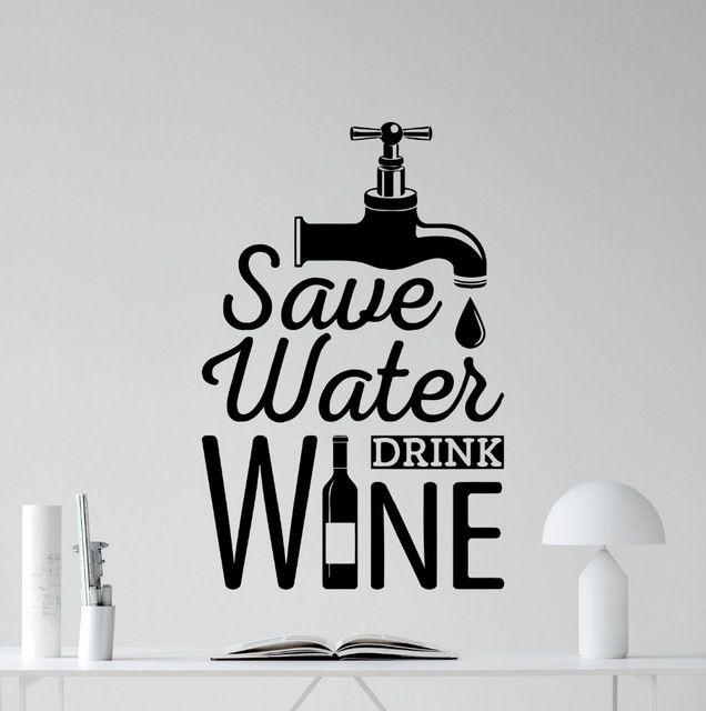 baru desain hemat air minum anggur dapur stiker dinding dekorasi rumah dapur ruang tamu dekorasi ruang