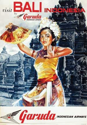 Poster Indonesia Terbaik Vintage Visit Bali Garuda Indonesia Poster Indonesia In 2018