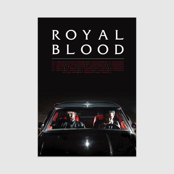 royal blood merch car tour poster