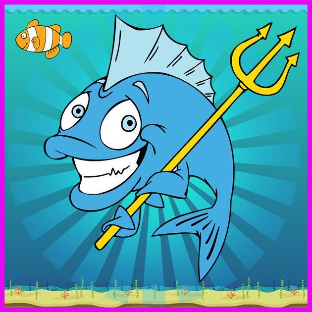 mencari ikan gembira dalam sepadan kartun comel kad teka teki permainan di app store