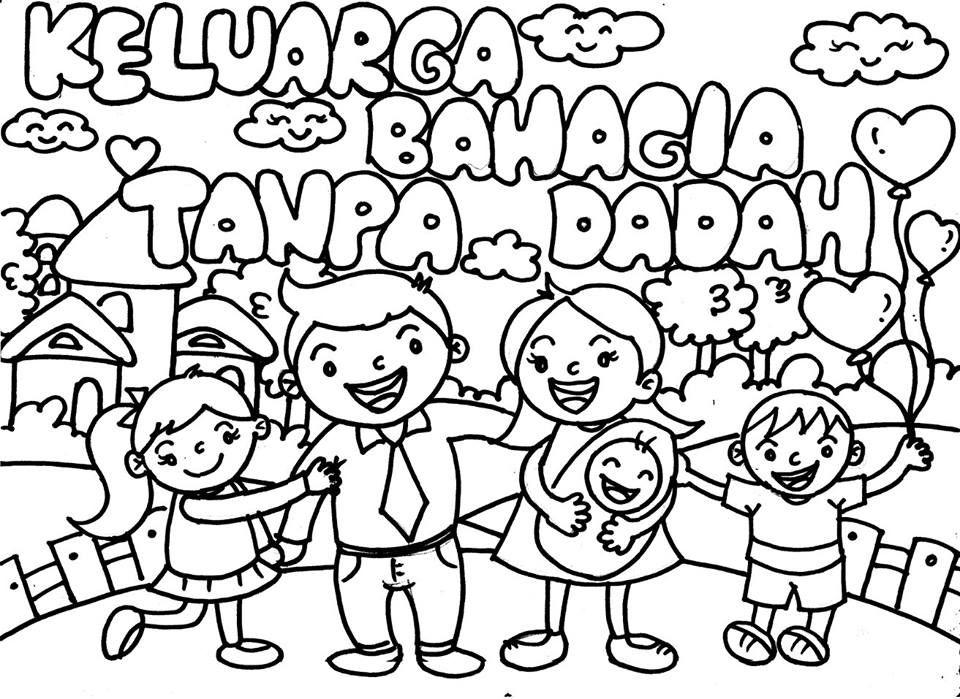 Muat Turun Bermacam Contoh Poster Mewarna Keluarga Bahagia Yang