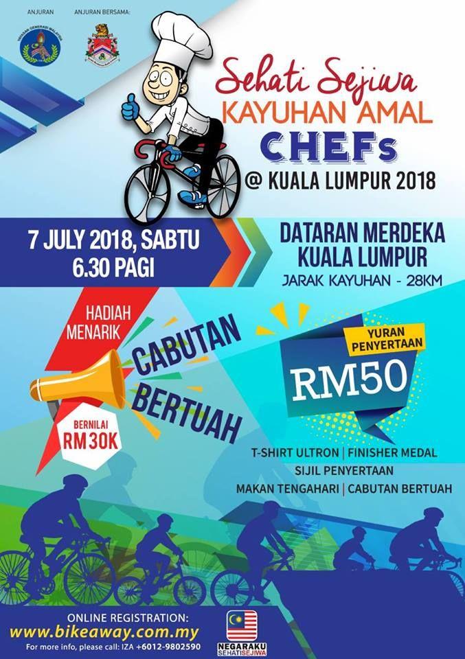 Poster Negaraku Sehati Sejiwa Bermanfaat Sehati Sejiwa Kayuhan Amal Chefs 2018 My Runners Running