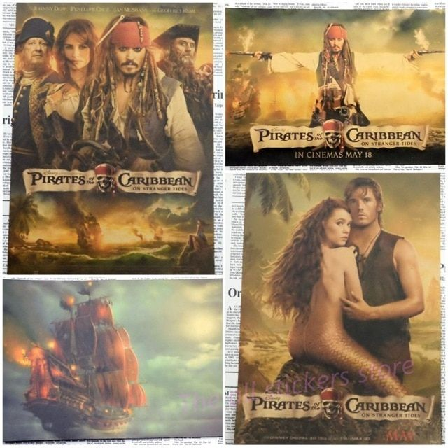 Poster Penelitian Penting Pirates Of the Caribbean Jack Captain Movie Poster Home Furnishing
