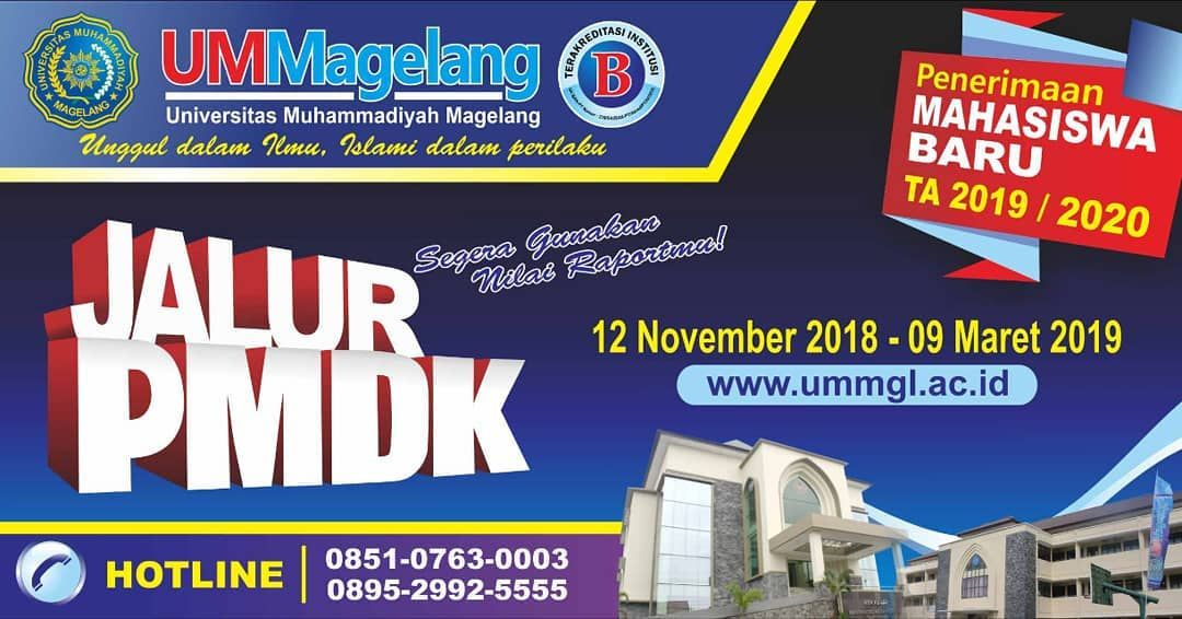 Poster Penerimaan Mahasiswa Baru Penting Penerimaan Mahasiswa Baru Universitas Muhammadiyah Magelang