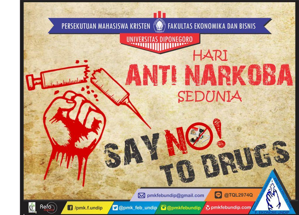 poster hari anti narkoba sedunia by pmkfebundip