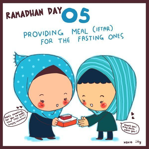 day 5 provide iftar to a person or family