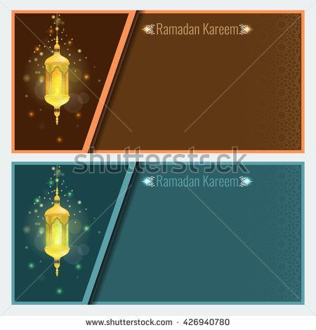 Ramadan Poster Terhebat Ramadan Kareem Greeting Card Design Template with Light Effect and