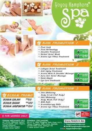 Raya Poster Terbaik Relaxing Spa Promotion Special for Hari Raya Aidilfitri 2015