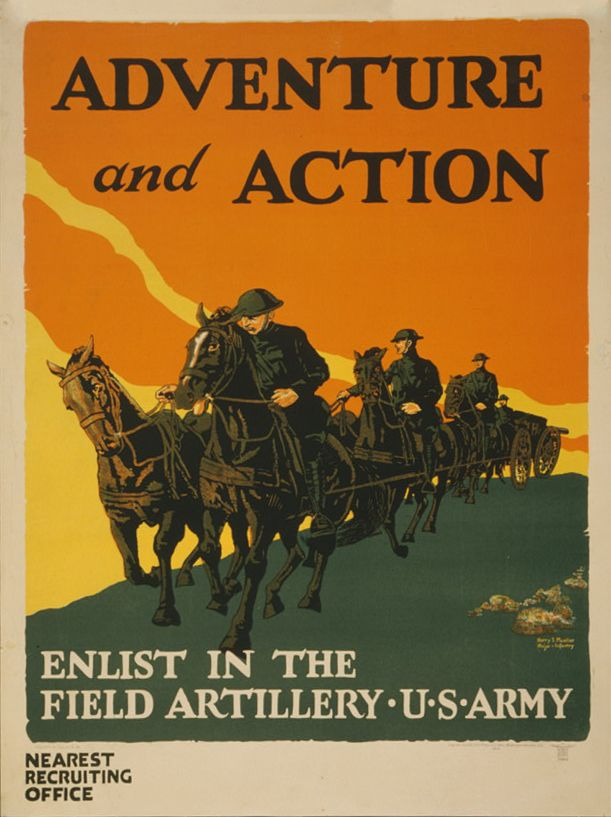 Vacancy Poster Baik Wwi Field Artillery Recruitment Poster Propaganda Posters
