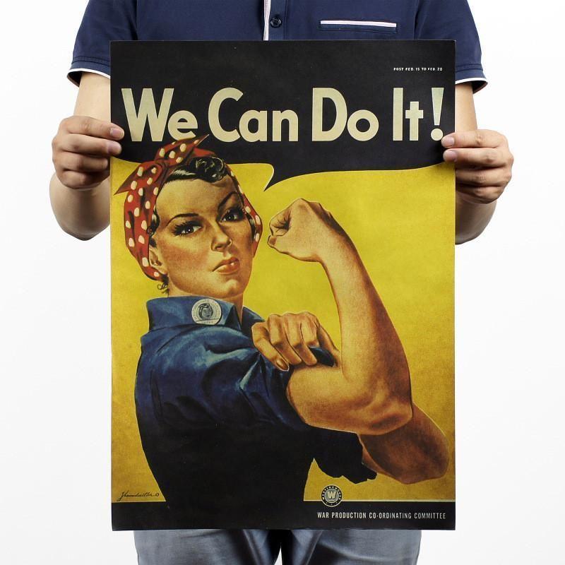 51x36cm world war ii we can do it inspirational recruitment poster bar home decor retro