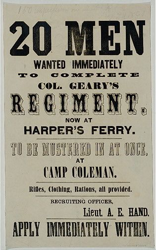 union army recruitment poster library of congress