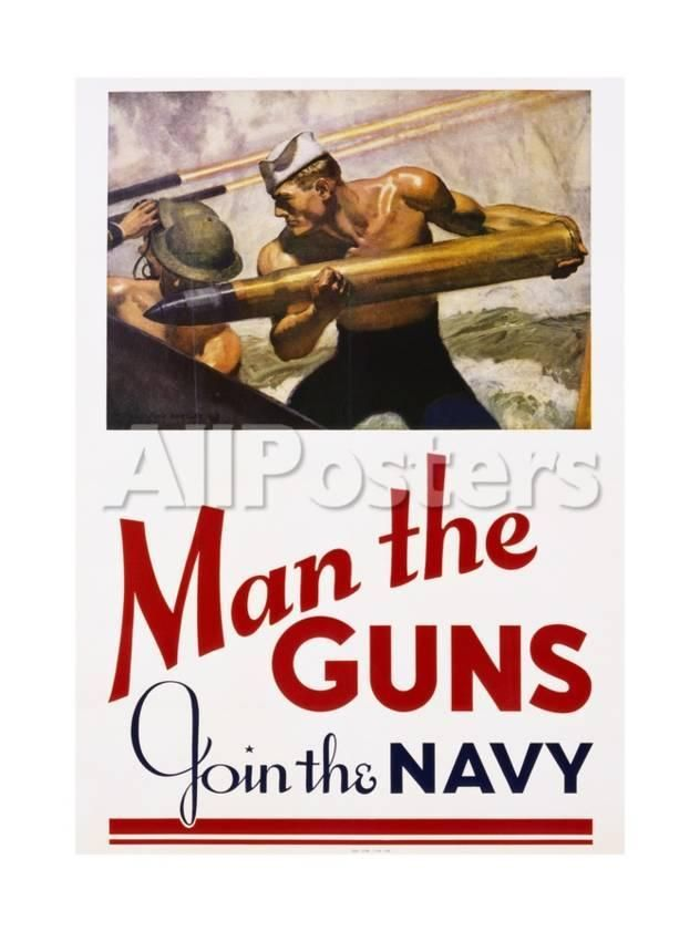 man the guns join the navy recruitment poster by yienkeat landscapes giclee print 46