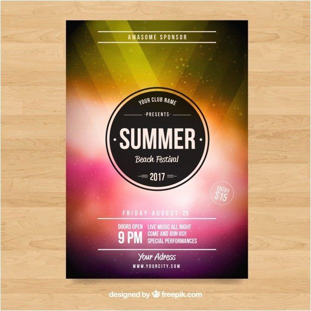 Fashion Poster Bermanfaat Free Flyers Template Download Inspirational Retro Style Flyer