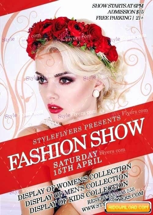 fashion show flyers template free beautiful retro style flyer template free format download fashion show psd