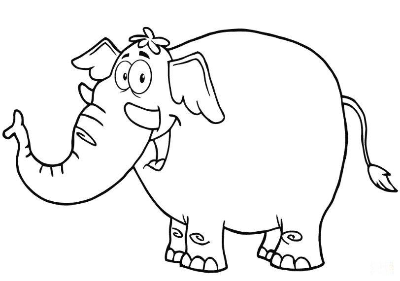 Dapatkan Bermacam Contoh Gambar Gajah Untuk Mewarna Yang Terhebat