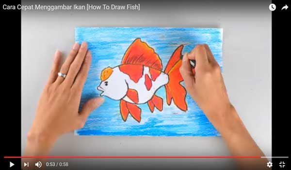 cara cepat menggambar dan mewarnai ikan jpg