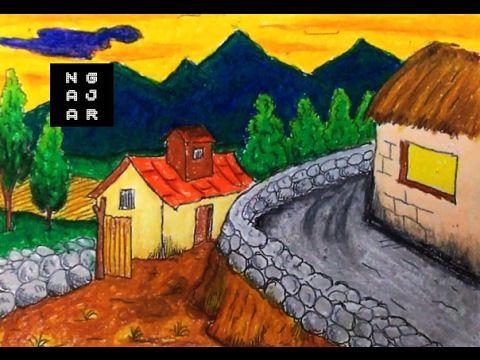 Gambar Kereta Spot Untuk Mewarna Baik Cara Mewarnai Gradasi Dengan Crayon Pemandangan Sawah Gunung Youtube