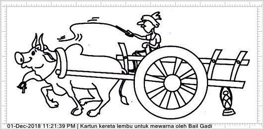 gambar kartun kereta lembu