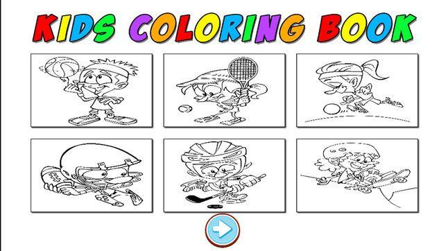 Gambar Mewarna Bersukan Untuk Kesihatan Terhebat Bermain Anak Anak Sukan Mewarna Buku Untuk Pembelajaran
