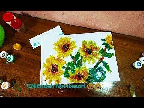 kolase bunga matahari dari berasd d d
