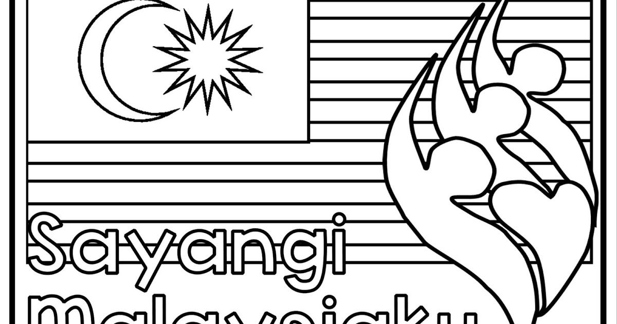 teacherfiera com colouring sheets malaysia independence day 2018 malay english version