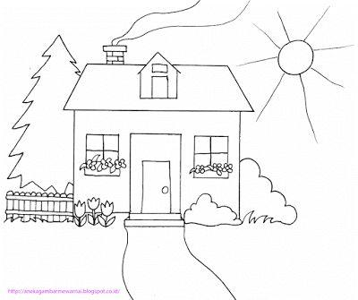 Gambar Mewarna Kereta Api Hebat Aneka Gambar Mewarnai Gambar Mewarnai Rumah Untuk Anak Paud Dan Tk