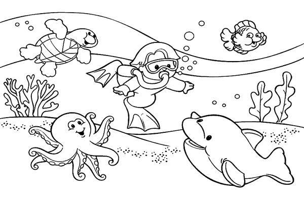 Mewarnai Gambar Untuk Anak Anak Mewarnai Gambar Lautan