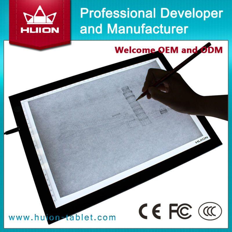 shenzhen huion a3 ultra tipis dipimpin lampu kotak animasi menggambar stensil papan meja pad buy shenzhen gambar tablet dipimpin kotak cahaya ramping