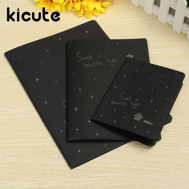 kicute sketchbooking diary untuk menggambar lukisan grafiti baru soft cover hitam kertas sketsa notebook buku perlengkapan