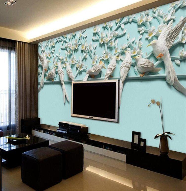 Kertas Kerja Lukisan Mural Terbaik Modern Lukisan Untuk Ruang Tamu Latar Belakang Fotografi Hd Benar