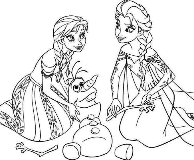 Kertas Lukisan Mewarna Frozen Terhebat 1000 Gambar Mewarnai Terbaru Yang Mudah Untuk Anak Anak Fokussatu Com