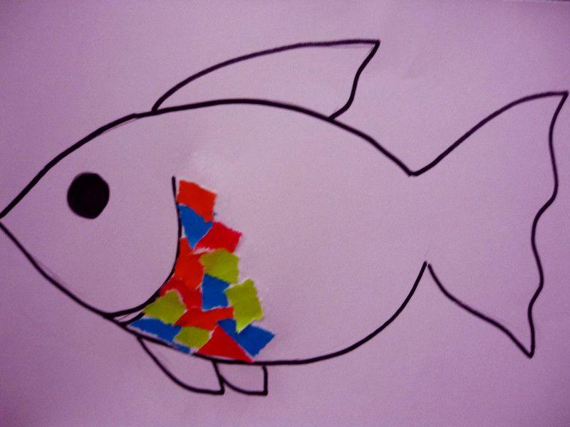 langkah 3 koryakan kertas warna kepada cebisan cebisan kecil