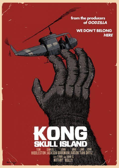Kong Skull island Poster Penting Cherepanov Alexander Author Posterspy
