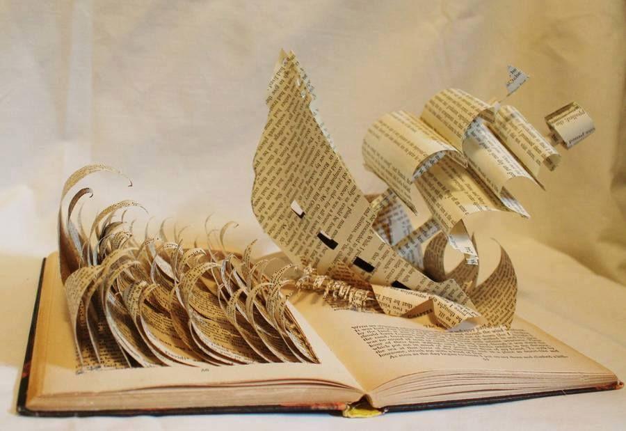 Lukisan 3 Dimensi Sederhana Di Kertas Baik Ini Jadinya Jika Buku Buku Tebal Diukir Oleh Seniman Bikin Takju