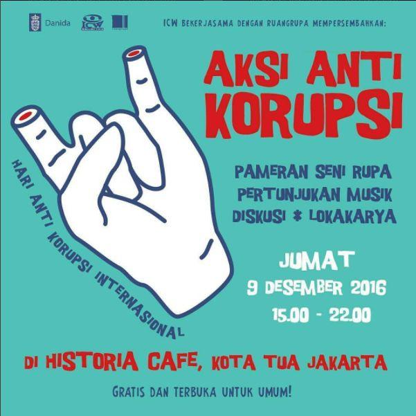 Poster Anti Korupsi Menarik Aksi Anti Korupsi Whiteboard Journal