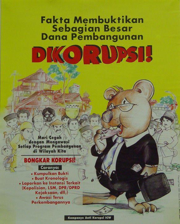 Poster Anti Korupsi Menarik south East asia Posters
