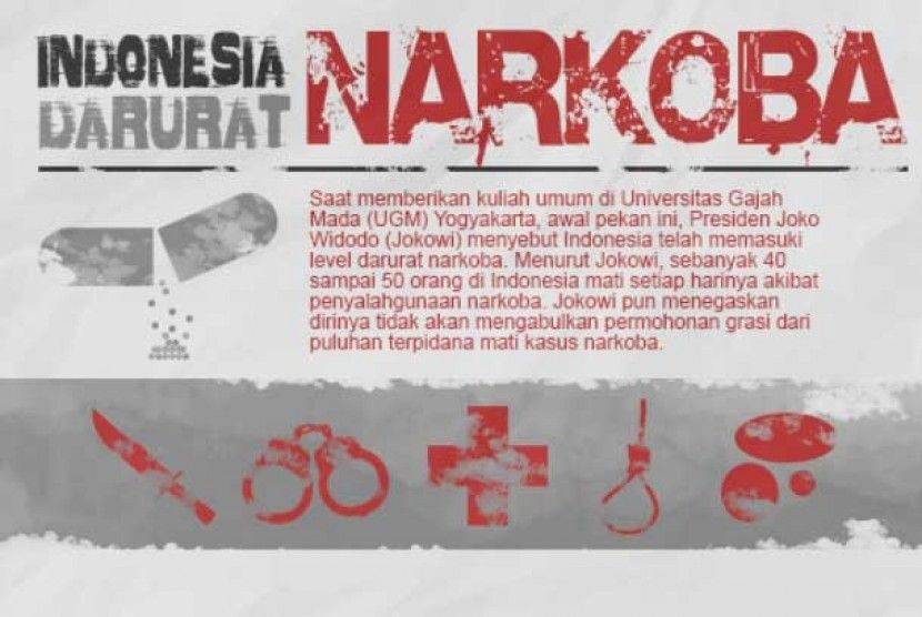 indonesia darurat narkoba ilustrasi