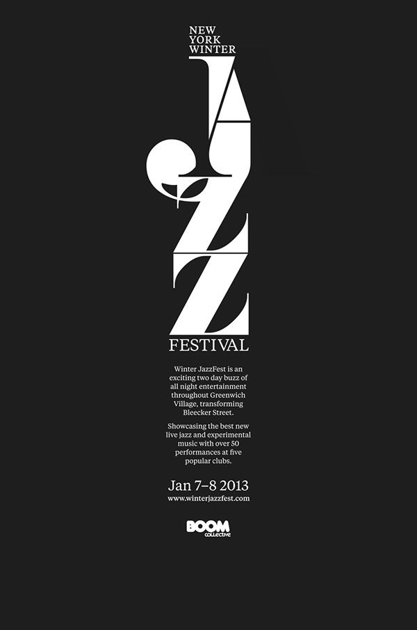 new your winter jazz festival posters promotion