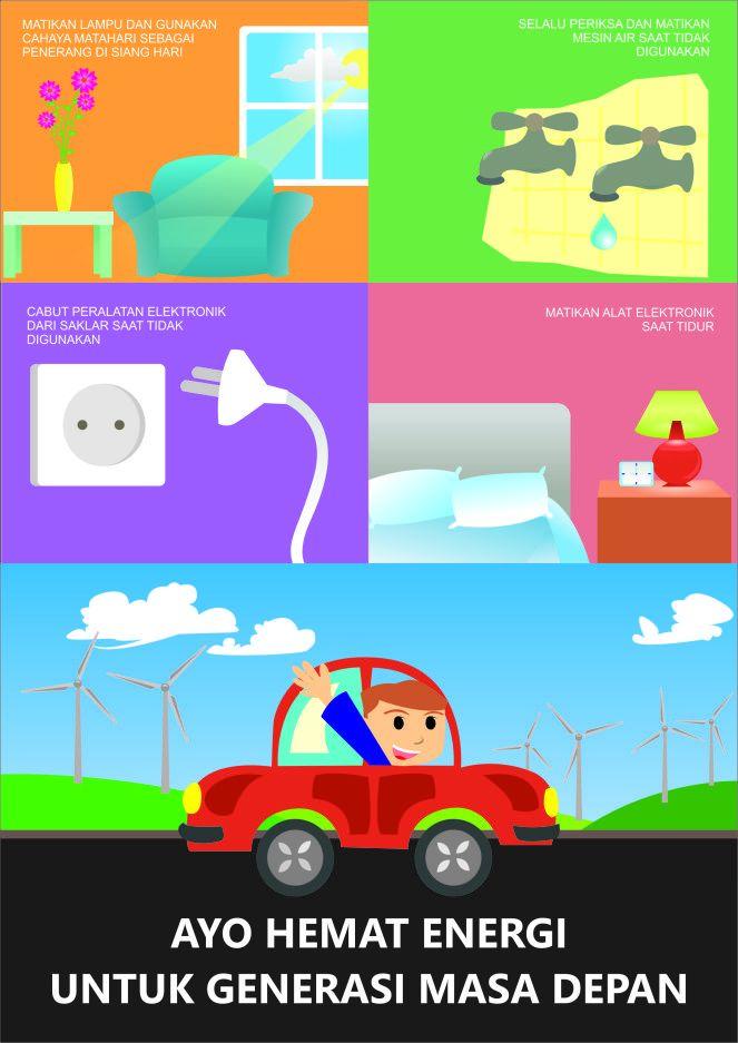 Dapatkan Pelbagai Contoh Poster Hemat Energi Di Sekolah Yang