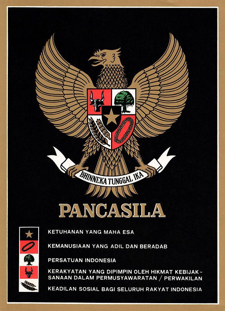 Poster Pancasila Terbaik File Garuda Pancasila Poster Color Jpg Wikimedia Commons