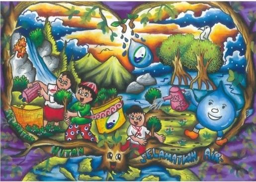 Poster Pelestarian Lingkungan Meletup Bangka Barat Selenggarakan Lomba Poster Budaya Seni Sastra