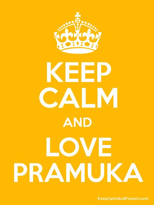 keep calm and love pramuka poster