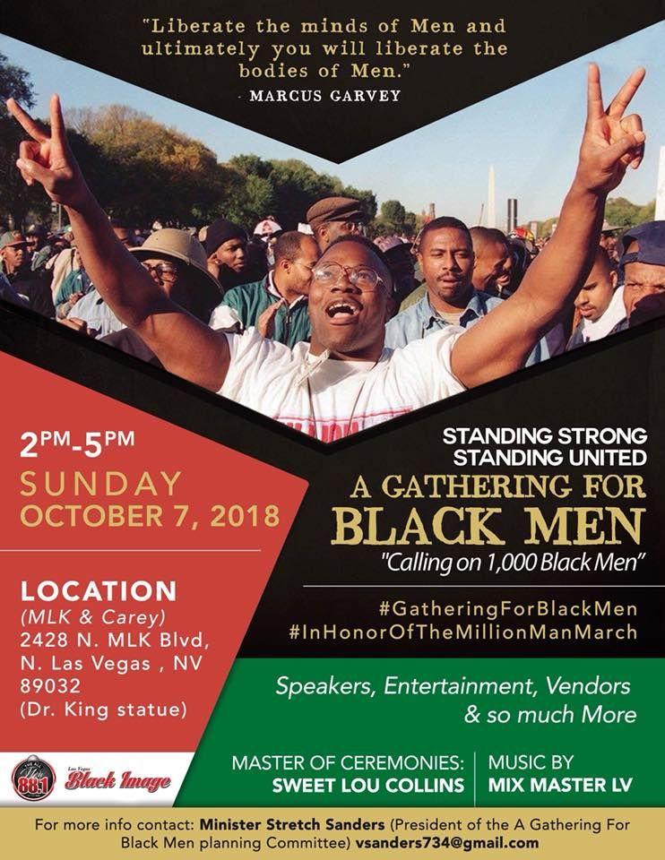 Standing Poster Menarik A Gathering for Black Men Calling On 1 000 Men 2428 N Martin L