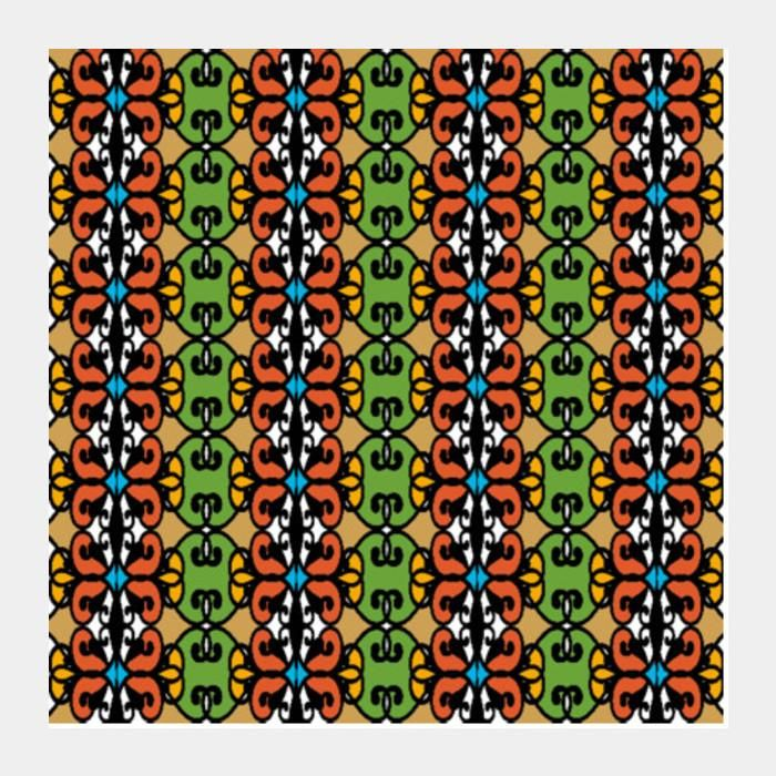 colorful ethnic pattern tribal art background square art prints arti postergully