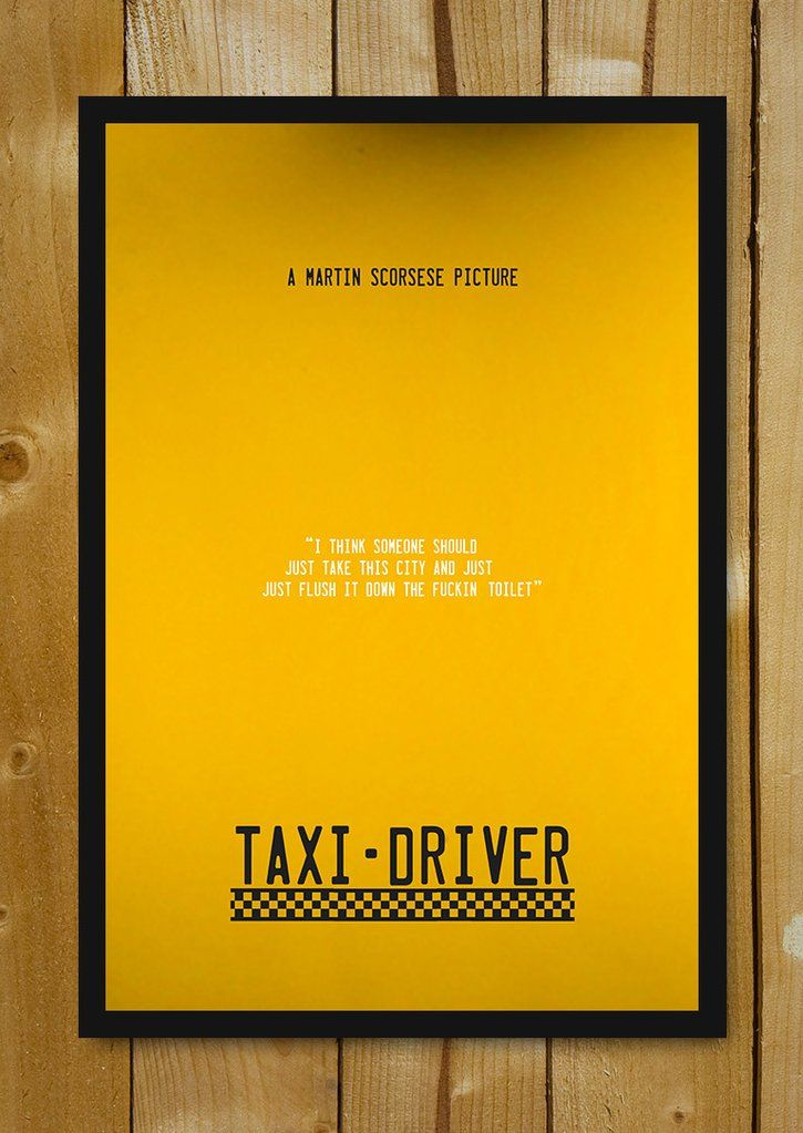 buy framed posters online shopping india taxi driver minimal art glass framed poster postergully