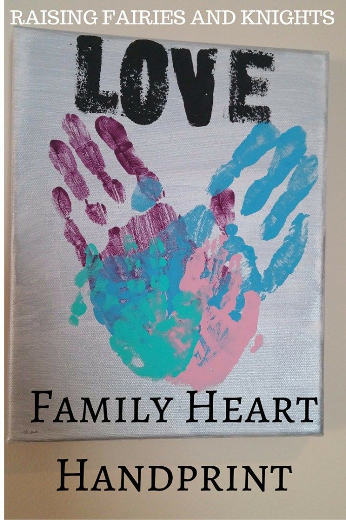 Family Day Poster Bermanfaat Family Heart Handpring Time for Mama to Take Mother S Day Presents