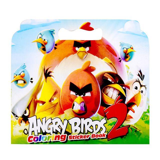 1 pcs baru 16 halaman mewarnai burung stiker buku untuk anak anak dewasa menghilangkan stres