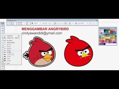 Gambar Angry Bird Untuk Mewarna Terhebat Menggambar Angry Bird Dengan Coreldraw X5 Youtube