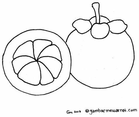 Gambar Buah-buahan Untuk Mewarna Hebat Mewarnai Gambar Buah Manggis Art Dapat Dicetak Dan Gambar